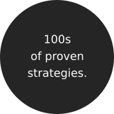 100s of proven strategies